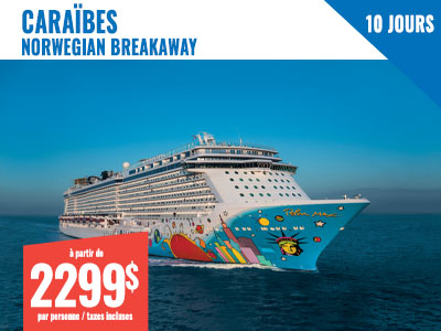 New York - NCL Breakaway 7 jours Bermudes + 3 jours NY